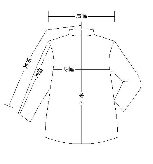 上着の採寸箇所